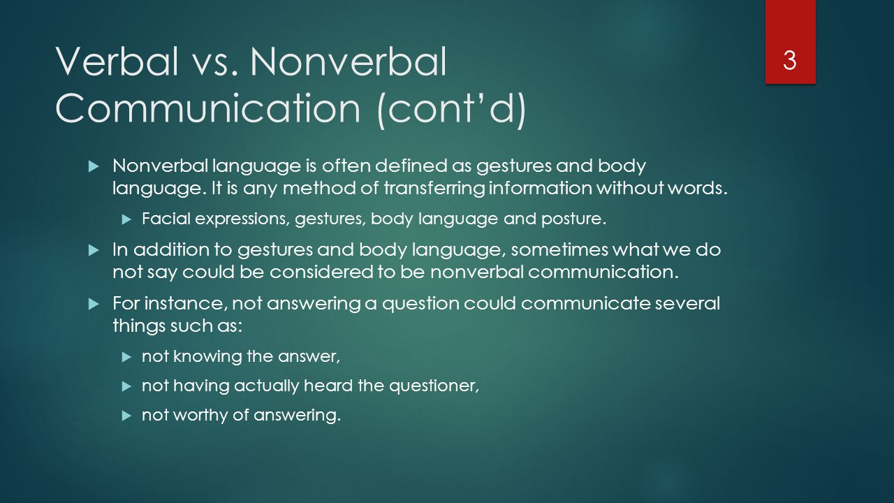 verbal communication versus texting