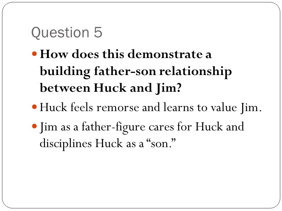 An overview of the relationship between huck and jim in the adventures of huckleberry finn by mark t