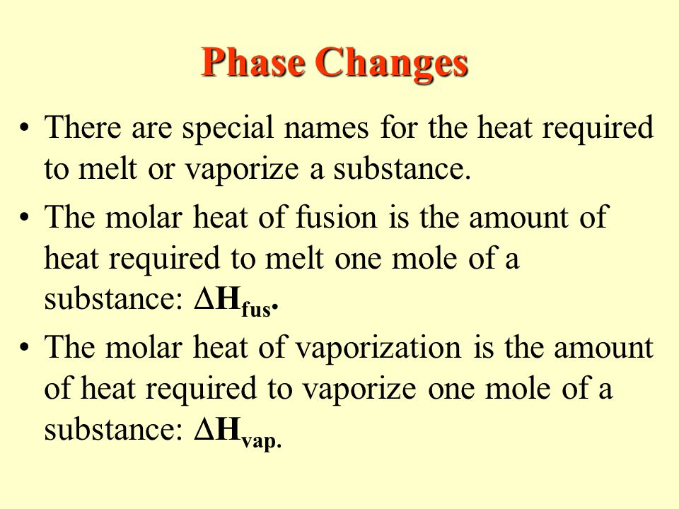 an introduction to the experiment heat of fusion of a substance Binary solid-liquid phase diagram introduction  in the present experiment, the phase changes that occur in a two-component mixture will be  pure substance, ii.