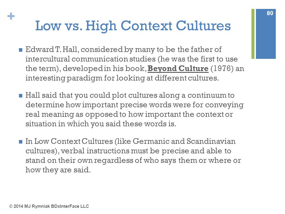 high and low context cultures hofstede's What is uncertainty avoidance hofstede cultural high and low uncertainty avoidance and low uncertainty avoidance cultures are generally higher risk takers.