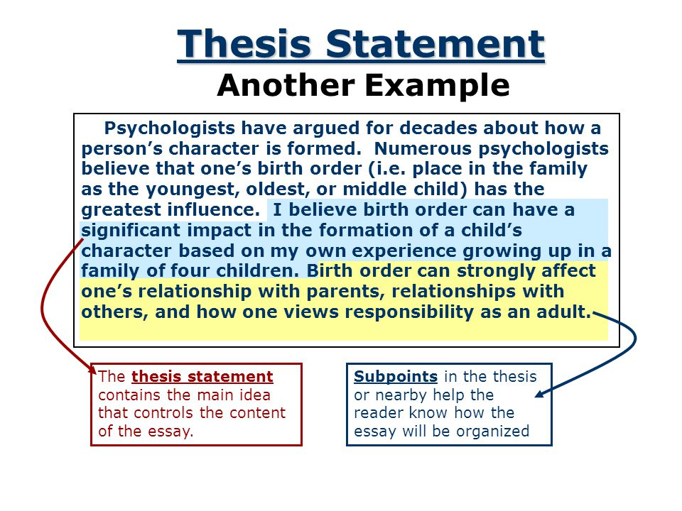 "does a thesis statement have to be a complete sentence The thesis statement is often the first sentence the complete quote is ""education if you are looking for my advice on thesis statements, you have found."