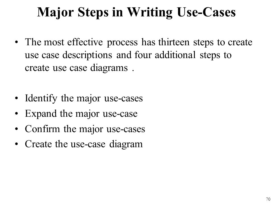 how to write use cases