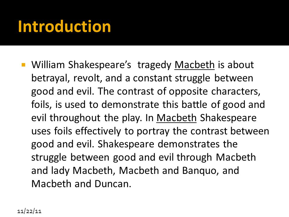 How Evil Is Represented In Macbeth and Lord of the Flies Paper