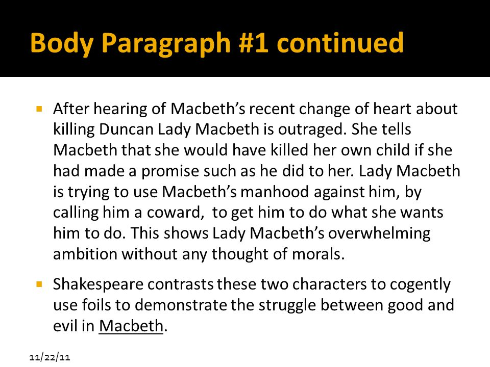 macbeth the struggle against evil essay Home » essay topics and quotations » macbeth thesis statements and important quotes  violence against others  essay topic #5: blood imagery in macbeth.