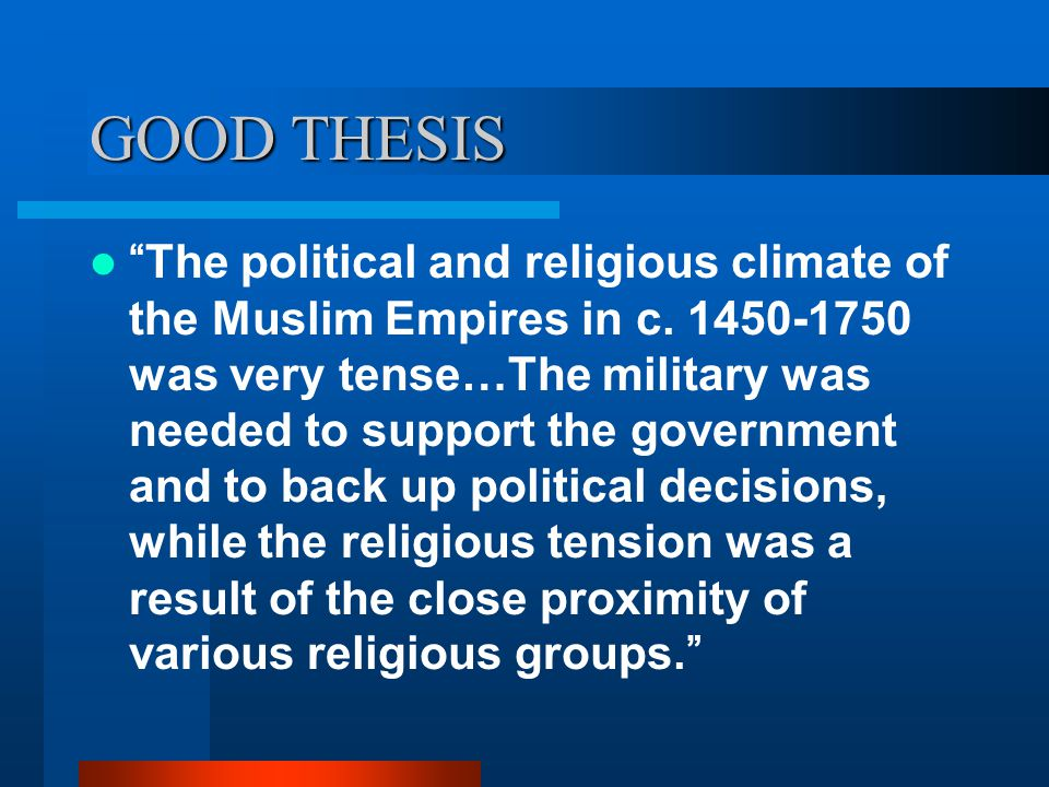 religious thesis Patterns underlying religious decline elsewhere in the west: each  against the  secularization thesis, but the religious situation in the united.