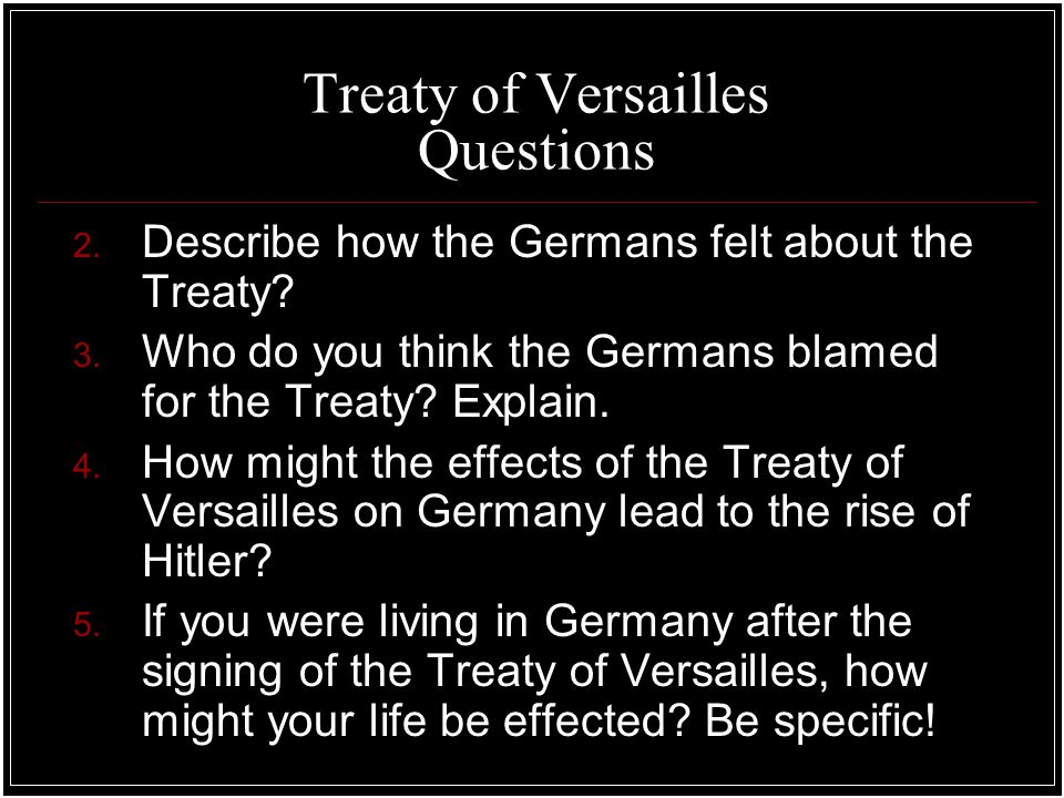 describe the effects of the treaty Germany lost world war i in the 1919 treaty of versailles, the victorious powers (the united states, great britain, france, and other allied states) imposed punitive.