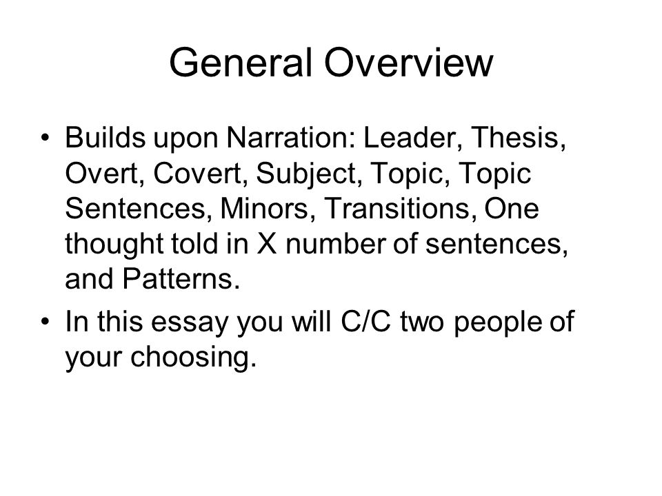 essay contrasting two people Write a comparison-contrast essay in which you describe the two people, places, events, or characters that you have an interest in or know well use the idea.