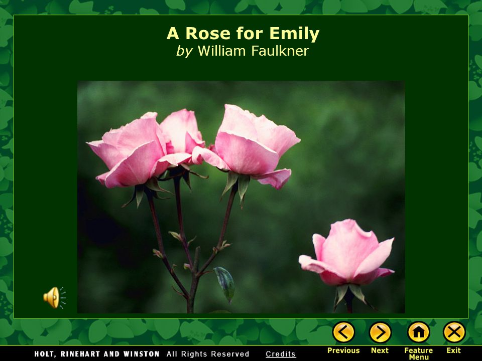 a rose for emily and a Free term papers & essays - a worn path vs a rose for emily, s.
