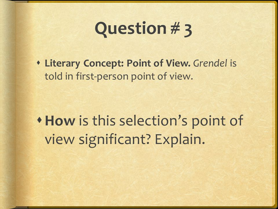 grendel by john gardner ppt video online  9 question