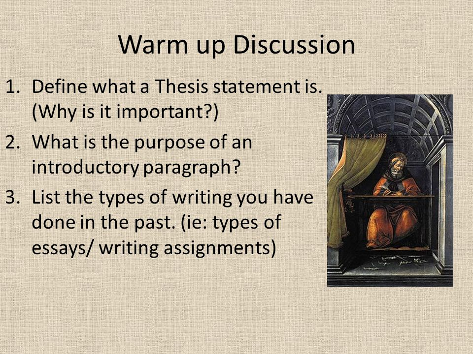 Papers & Essays: What is a thesis statement in an essay