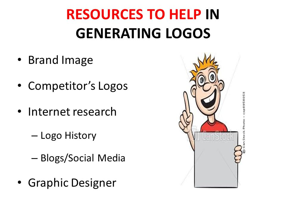 RESOURCES TO HELP IN GENERATING LOGOS