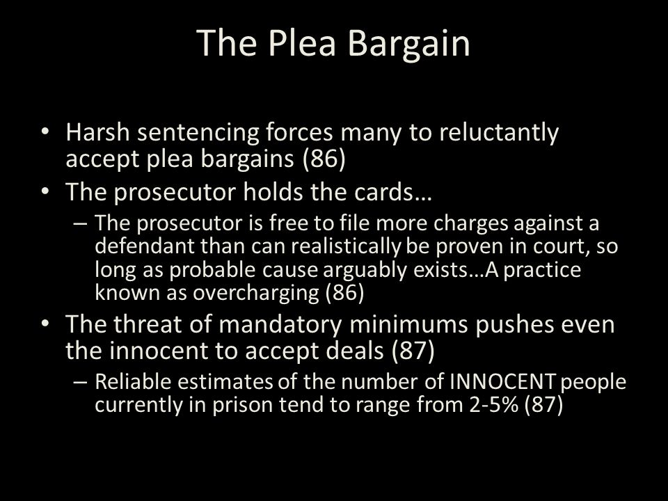 "plea bargains and mandatory sentencing Republican presidential candidates support criminal justice with plea bargains and that ""harsh mandatory minimum sentencing laws have."