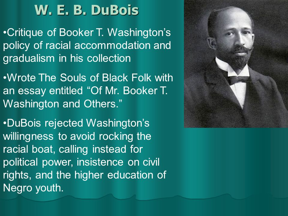 The Rivalry Between Web Dubois And Booker T Washington And Its