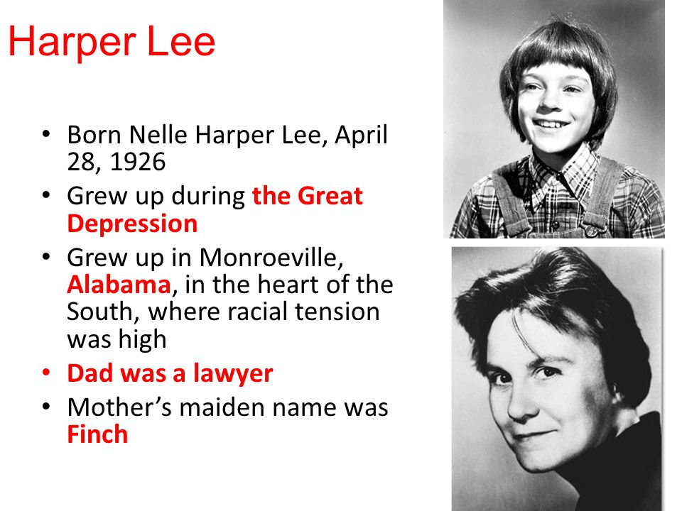 nelle harper lee essay In monroeville, alabama, in april of 1939, nelle harper lee was born lee was born to frances finch lee, her father, and amasa coleman, her mom.