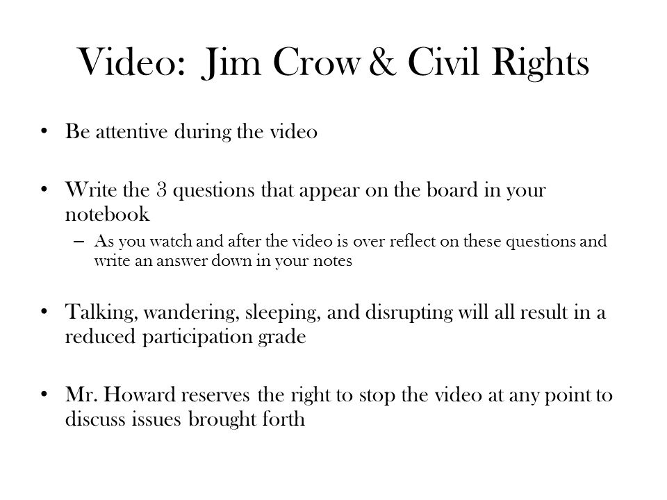 describe the rise of jim crow plessy v ppt video online 2 video