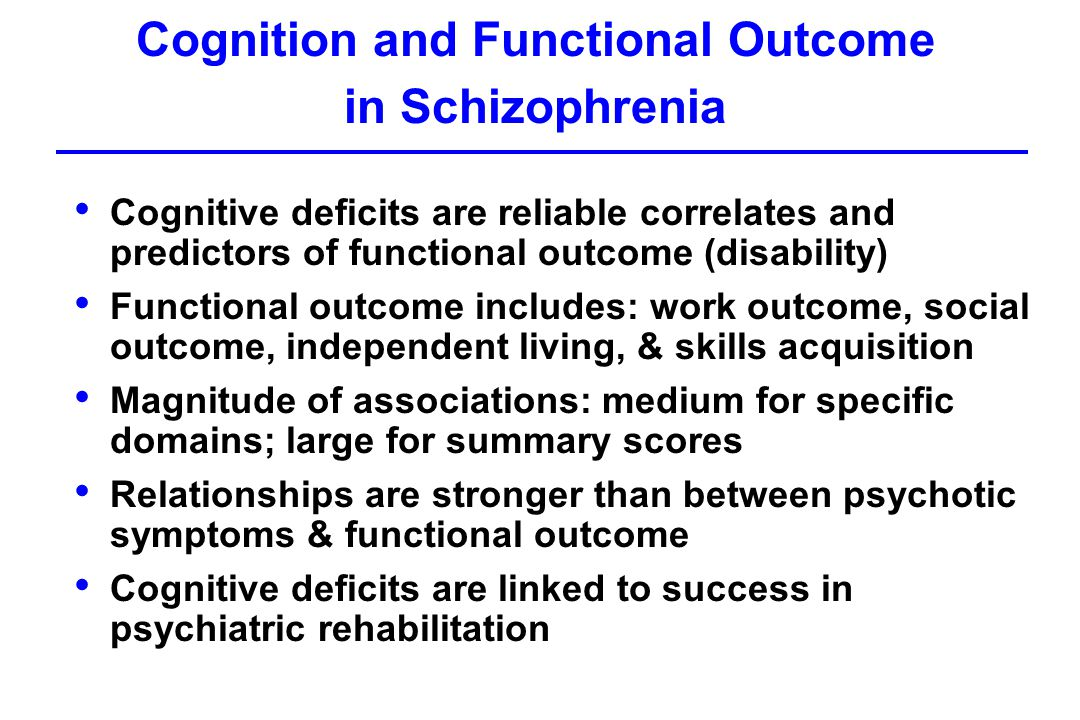 premorbid cognitive deficits in schizophrenia and Management of schizophrenia with cognitive with schizophrenia show cognitive deficits as severe as estimates of premorbid intelligence in schizophrenia.