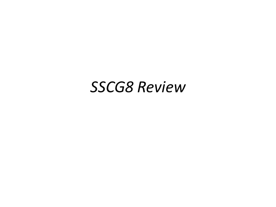 SSCG8 Review