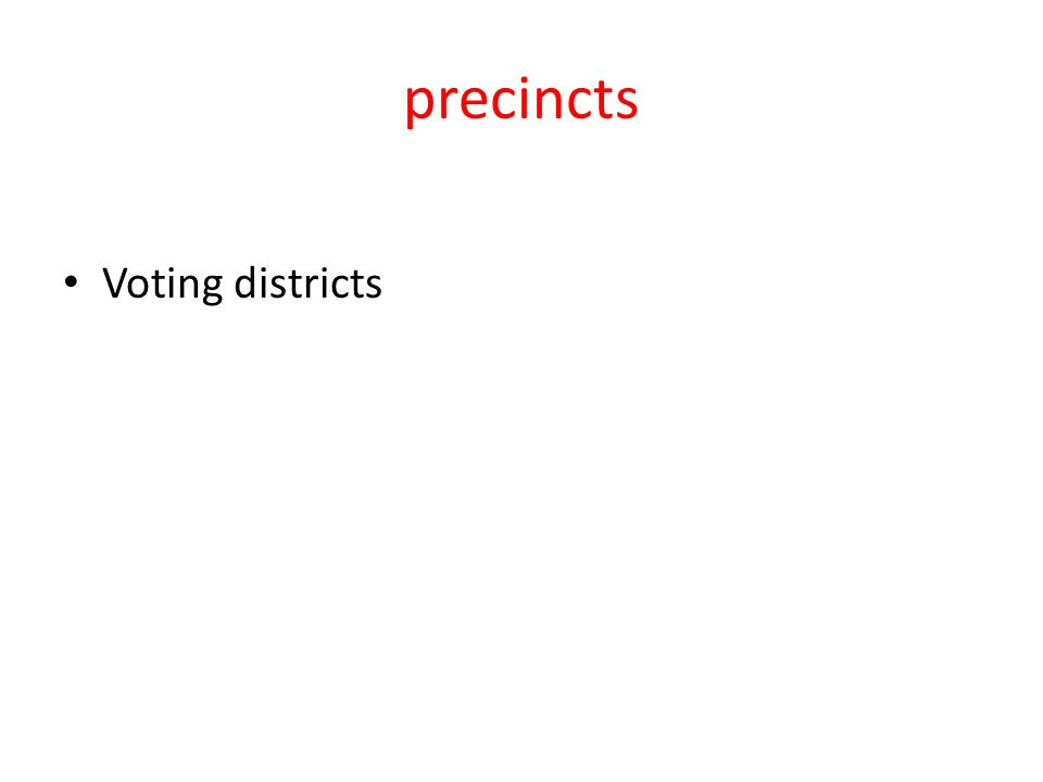 precincts Voting districts