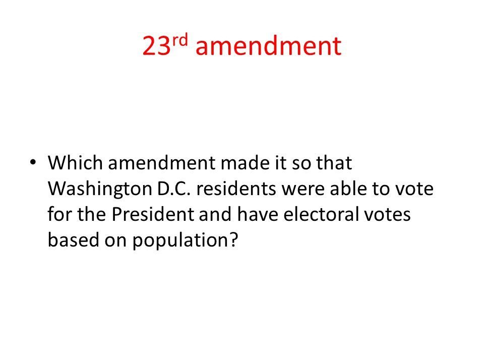 23rd amendment