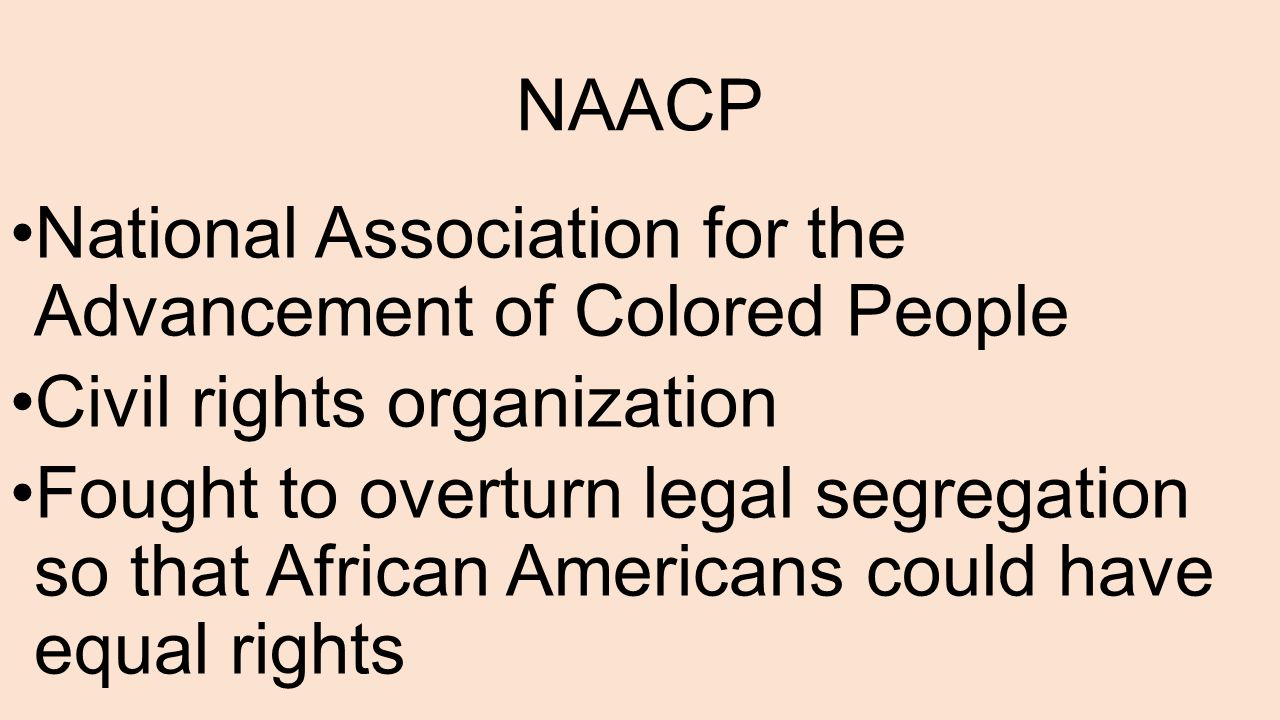 an introduction to the national association for the advancement of colored people Naacp: a history of the national association for the advancement of colored people a history of the national association for the introduction: african.