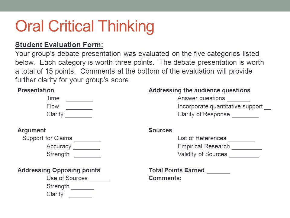 Assessing Critical Thinking Across The Disciplines - Ppt Download