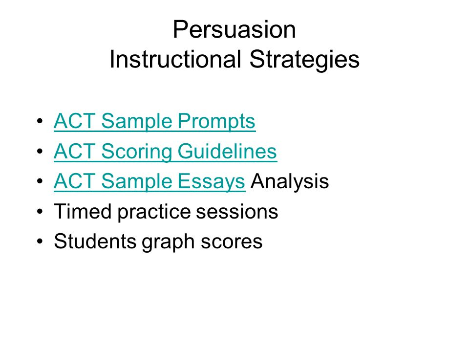 Sample Act Essay