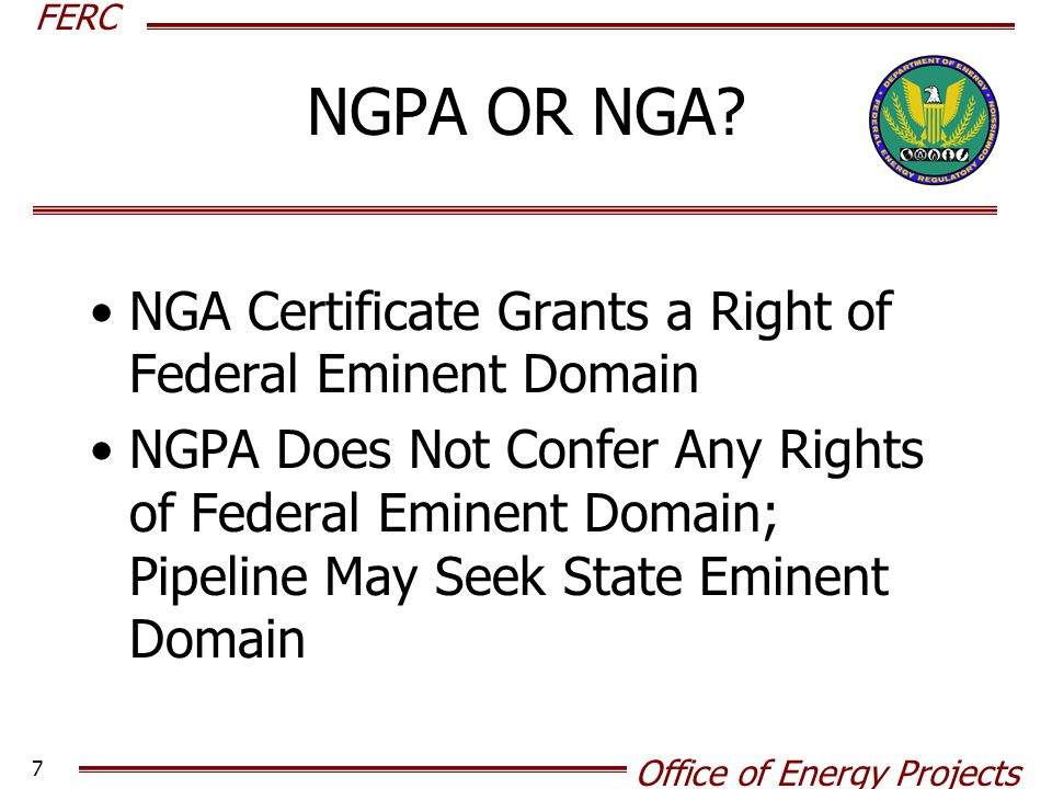 right of eminent domain Under the provisions of eminent domain, the rights of the national government cannot be enlarged or declined by any state.
