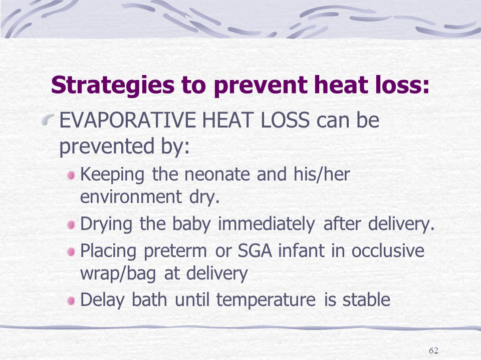 Thermoregulation In The Neonate Ppt Video Online Download