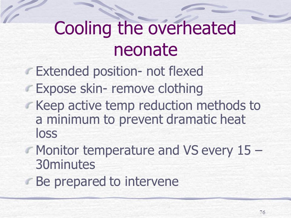 thermoregulation in the neonate Newborn can't regulate their own body temperature well at birth the more mature the baby is in regards to weeks of pregnancy influences the ability to maintain body warmth thermoregulation in a newborn is a neurological system adaptation to extrauterine life.