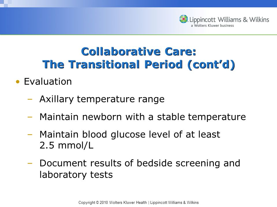 Collaborative Care: The Transitional Period (cont'd)