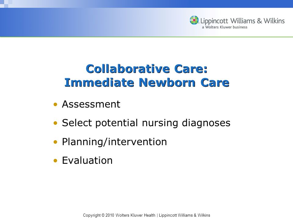 Collaborative Care: Immediate Newborn Care