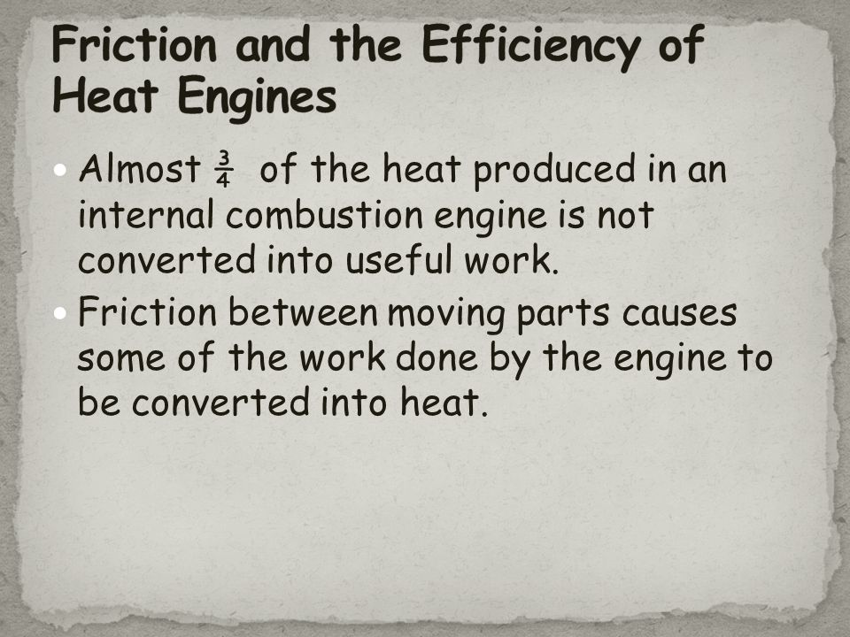 Friction and the Efficiency of Heat Engines