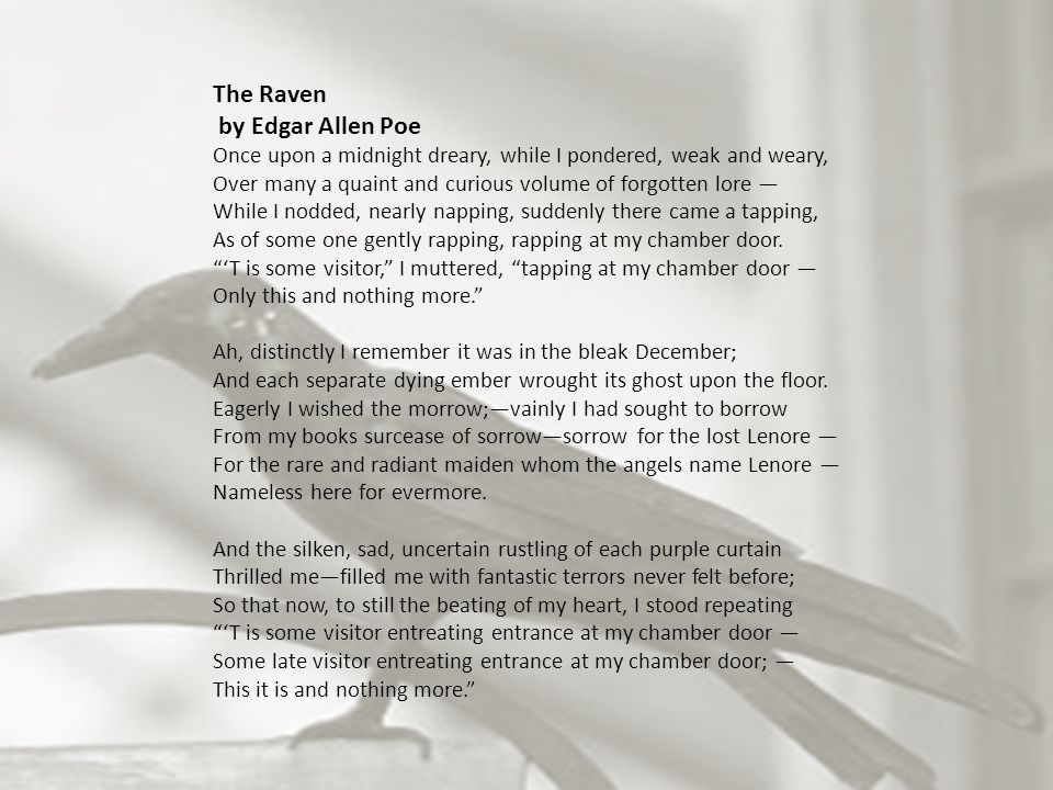 the meanings of edgar allan poes the raven