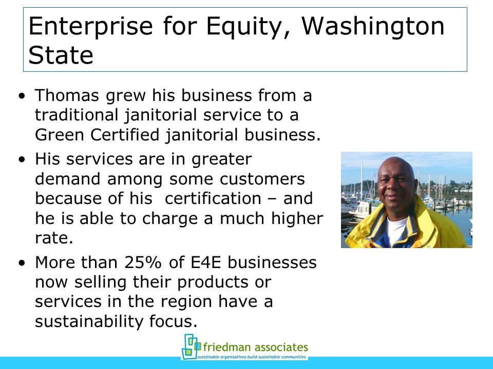 Enterprise for Equity, Washington State