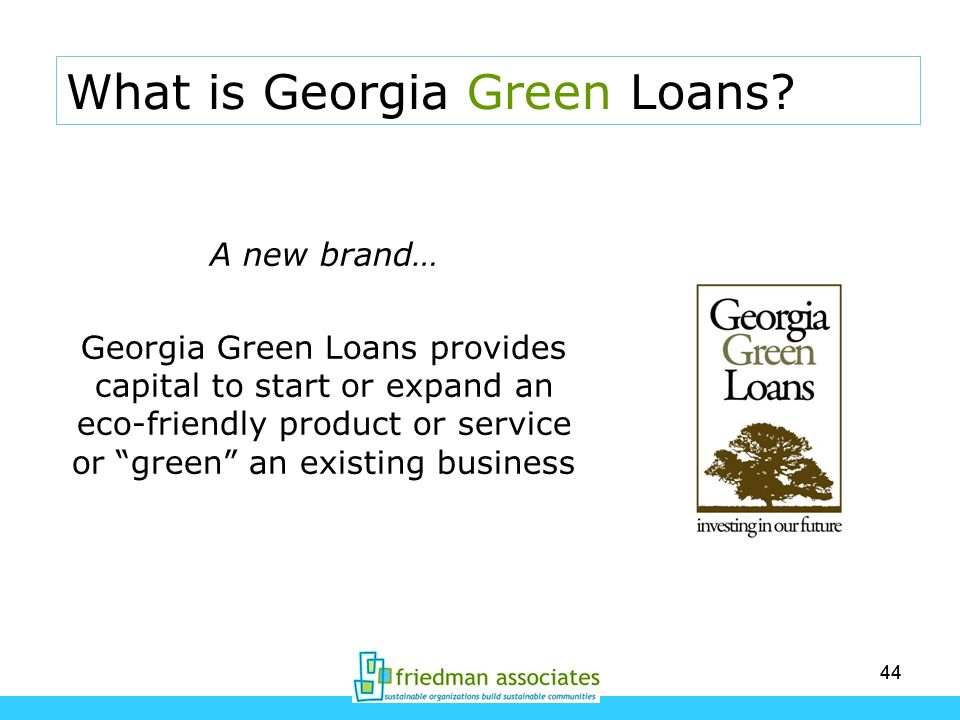 What is Georgia Green Loans
