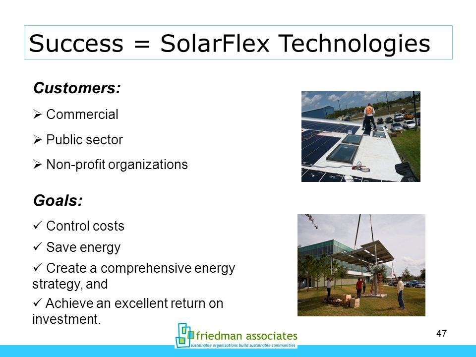 Success = SolarFlex Technologies
