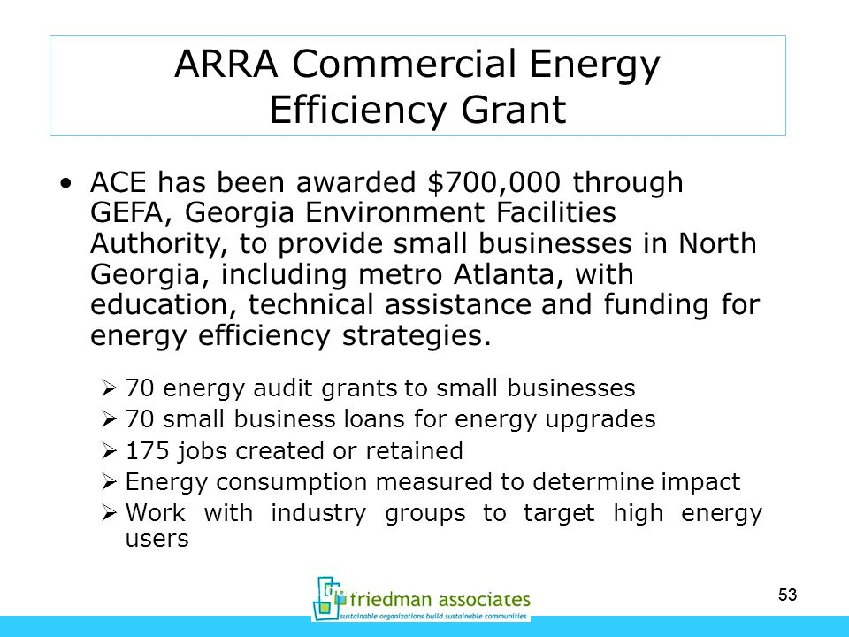ARRA Commercial Energy