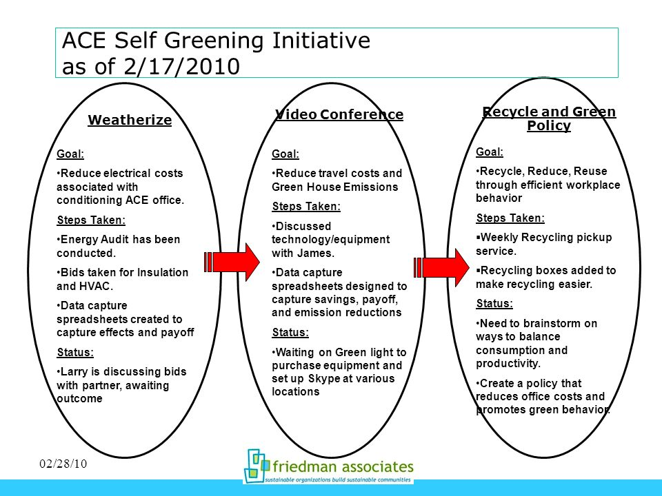 ACE Self Greening Initiative as of 2/17/2010