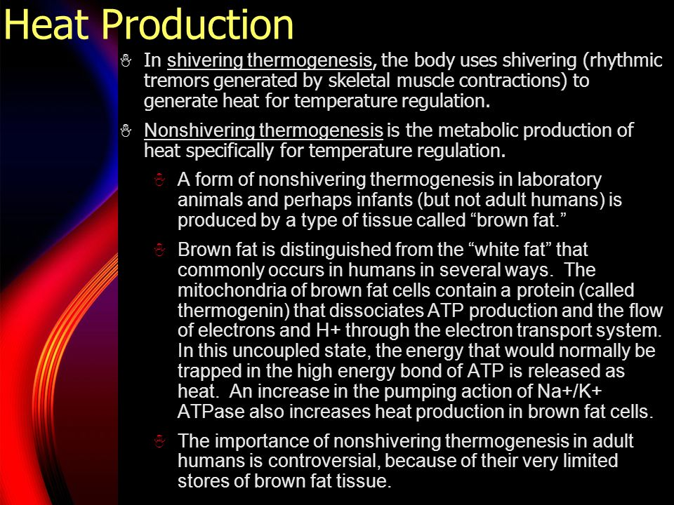 Growth and Temperature Regulation