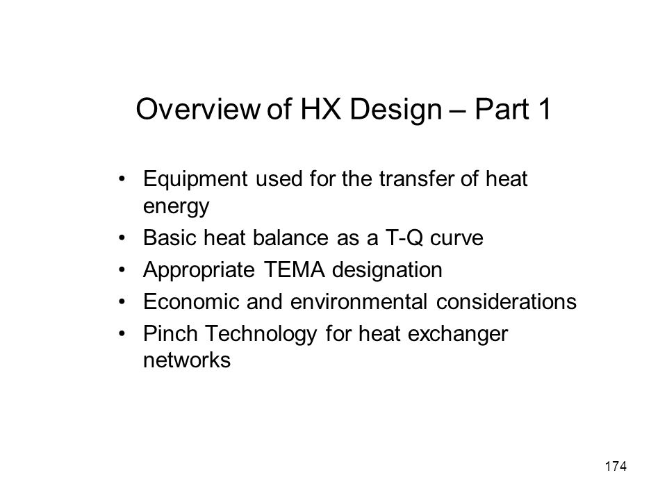 Overview of HX Design – Part 1