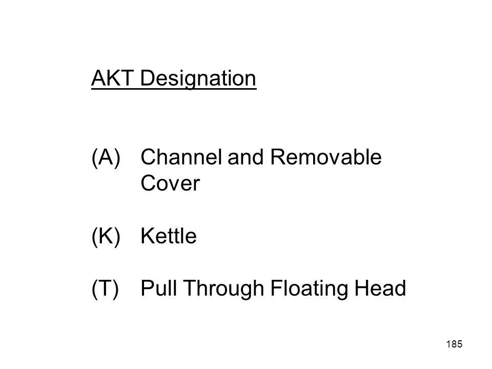 AKT Designation (A). Channel and Removable. Cover (K). Kettle (T)