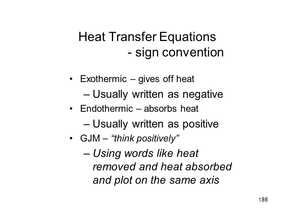 Heat Transfer Equations - sign convention