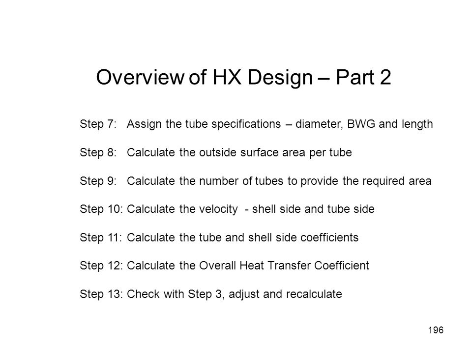 Overview of HX Design – Part 2