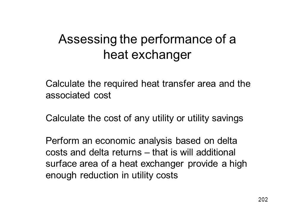 Assessing the performance of a heat exchanger