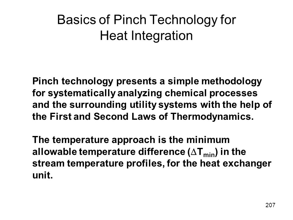 Basics of Pinch Technology for Heat Integration