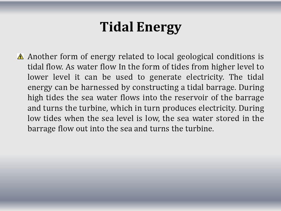 Tidal Energy