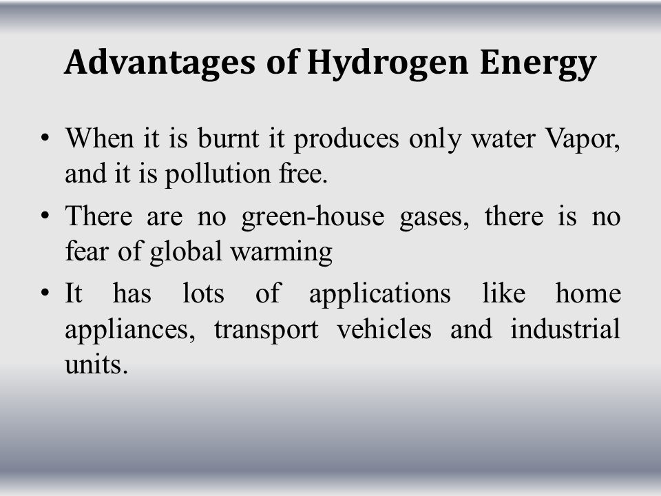 Advantages of Hydrogen Energy