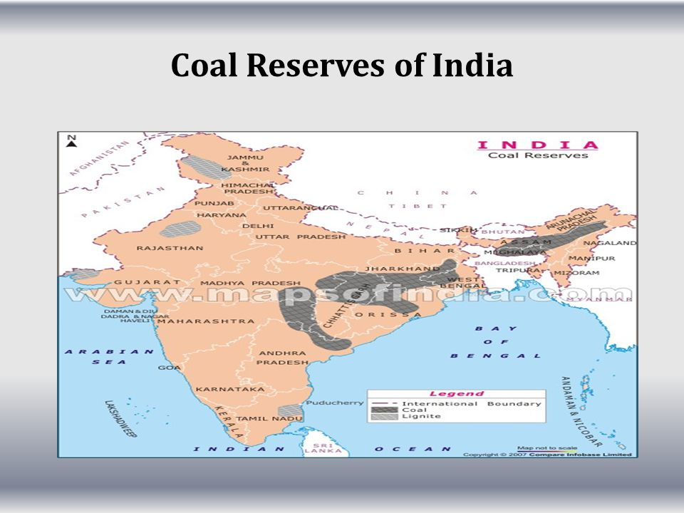 Coal Reserves of India