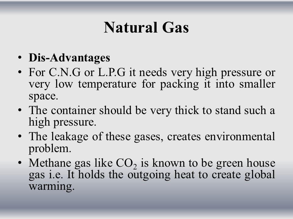 Natural Gas Dis-Advantages