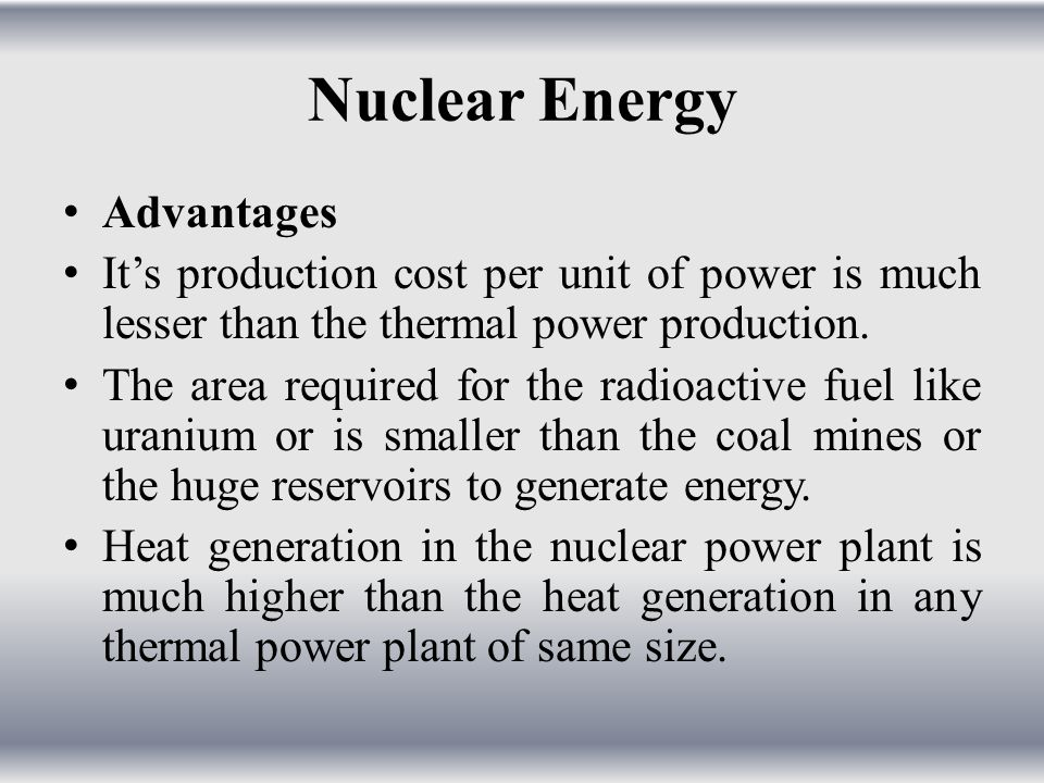 Nuclear Energy Advantages
